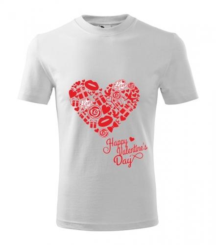 Tričko HAPPY VALENTINE unisex